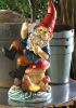 Colorful Gnome Statue with Solar Light