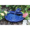 Ceramic Koi Solar Water Feature - Glazed Blue