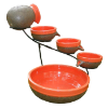 Tangerine Solar Cascade Water Fountains
