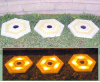 Hexagon Walkway Stones with Solar Lights- Set of 3