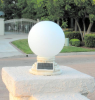 Frosted Glass Globe Solar Patio Light