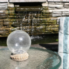 Crackled Glass Solar Gazing Ball - Table Top Base