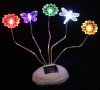 Solar Rock with Adjustable Color LED Stems