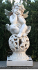 Solar Cherub Statue with Solar Lights