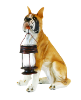 Boxer Dog Statue with Solar Light