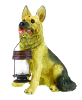 German Shepherd Statue with Solar Light