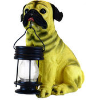 Pug Dog Statue with Solar Light