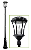 Victorian Solar Lamp Post Light with Motion Sensor