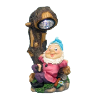 Solar Yard Gnome Resting Under Tree