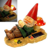 Yard Gnome with Mushroom Solar Light
