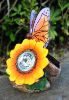 Butterfly and Sunflower Solar Lights - 2 Pack