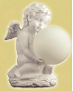 Solar Cherub with Color Changing Globe