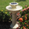 Kensington Two–Tier Solar Birdbath Water Fountain