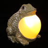 Frog Statue with Solar Light