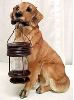 Golden Retriever Solar Dog Statue