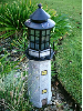 Solar Powered Lighthouse Lights - Gray