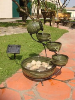 Solar Cascade Water Fountains - Glazed Green