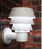 White Triple Tier Solar Wall Mount Lights