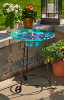 Argus Peacock Solar Birdbath Fountain