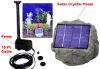 Solar Panel Rock w/ 1.2W Submersible Waterfall Pump