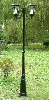 Victorian Solar Lamp Post Light with 2 Solar Lights