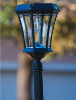 Victorian Bulb Solar Lamp Post Light - Single Lamp