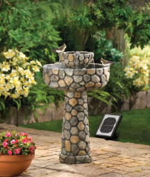 Wishing Well Solar Water Garden Fountain