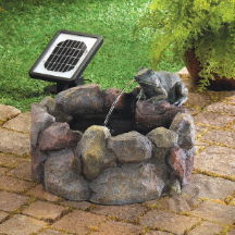 Frog Hollow Solar Water Fountains