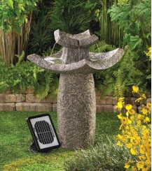 Temple Solar Outdoor Water Fountains