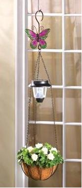 Solar Light with Hanging Basket