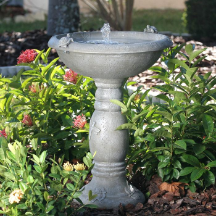 Country Gardens Solar Birdbaths | Solar Water Feature