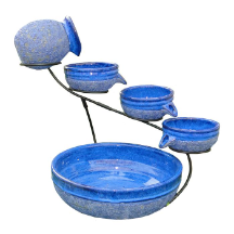 Blueberry Solar Cascade Water Fountains