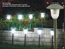 Olympus Solar Pathway Lights - Set of 8