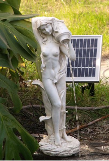 Lady Standing Pond Spitter Solar Water Feature