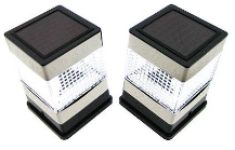 Solar Fence Post Lights - 2 Pack