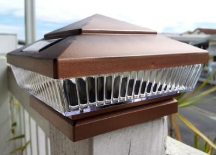 Copper Solar Deck Lights - 2 Pack
