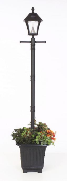 Baytown Solar Lamp Post Light with Planter