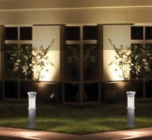 Solar Powered Bollard Light - Silver