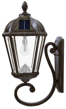 Royal Solar Wall Light with Solar Light Bulb