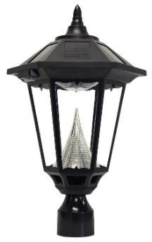 "Windsor Solar Lamp Post Light with 3"" Base Adapter"