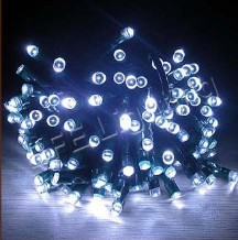 White Solar String Lights - 120 LED's
