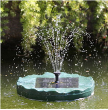 Solar Floating Lily Waterfall Fountain