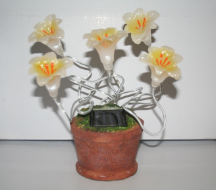 Solar Flower Lilies With 5 Blinking LEDs