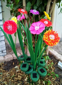 Solar Garden Flowers with Solar Light