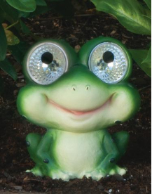 Frog Statues with Solar Light - 2 Pack
