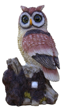 Solar Powered Owl Decoy