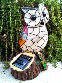 Solar Powered Light - Owl Statue