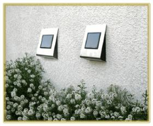 Solar Wall Mount Lights - 2 Pack