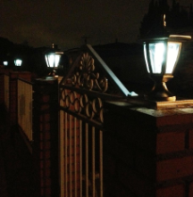 Hexagon Solar Lights with Pillar Base - 2 Pack