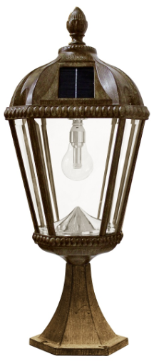 Royal Solar Pillar Light with Solar Light Bulb